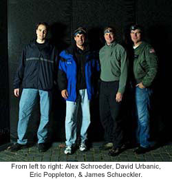 From left to right: Alex Schroeder, David Urbanic, Eric Poppleton, & James Schueckler.